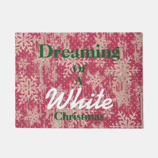 ホワイトクリスマスの歓迎のドア・マットの夢を見ること ドアマット