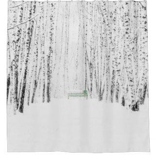 ホワイトクリスマスの物語 シャワーカーテン