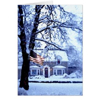 ホワイトクリスマスカード カード