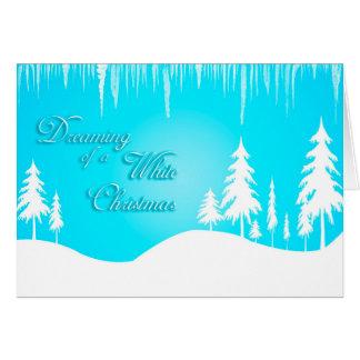 ホワイトクリスマス(クリスマス)の夢を見ること カード
