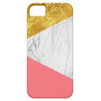 ホワイトゴールドのサケの大理石 iPhone SE/5/5s ケース