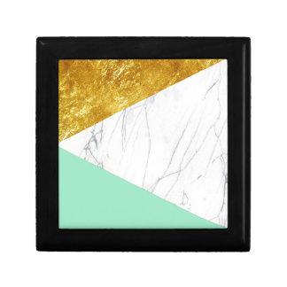 ホワイトゴールドのティール(緑がかった色)の大理石 ギフトボックス