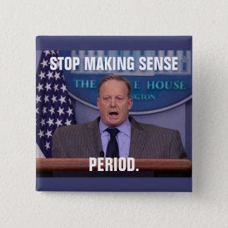 ホワイトハウスの報道官ショーンSpicer、切札の 5.1cm 正方形バッジ