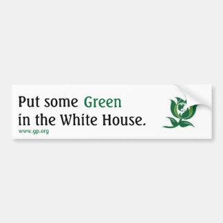 ホワイトハウスv2に緑を置いて下さい バンパーステッカー