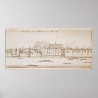 ホワイトホール1645年の眺め ポスター