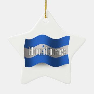 ホンジュラスの振る旗 セラミックオーナメント