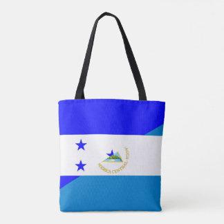 ホンジュラスニカラグアの半分の旗の国の記号 トートバッグ