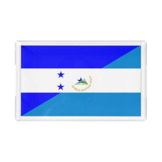 ホンジュラスニカラグアの国の半分の旗 アクリルトレー