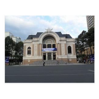 ホーチミンベトナムの市劇場 ポストカード