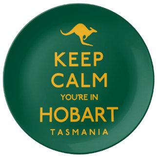 ホーバートの平静をあなたは保って下さい! 磁器プレート