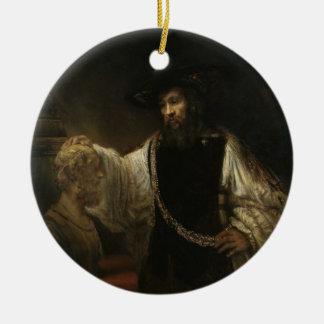ホーマーのバストを持つアリストテレス(384-322紀元前に) セラミックオーナメント
