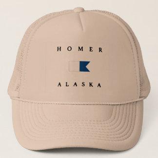 ホーマーアラスカのアルファ飛び込みの旗 キャップ