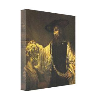 ホーマー1653年のバストを熟視しているアリストテレス キャンバスプリント