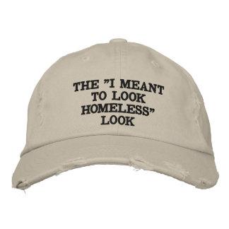 ホームレスのファッション 刺繍入りキャップ