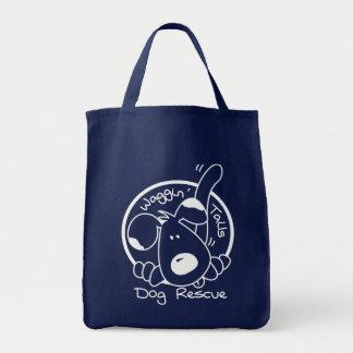 ホームレス犬を救済するショッピングの戦闘状況表示板 トートバッグ