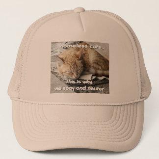 ホームレス猫のトラック運転手の帽子 キャップ