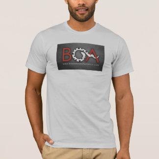 ボアの銀製のワイシャツ Tシャツ