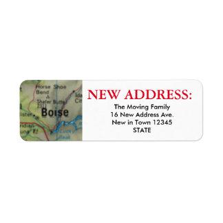 ボイジーの新しい宛名ラベル ラベル