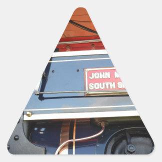 ボイラー詳細の牽引車の知名 三角形シール