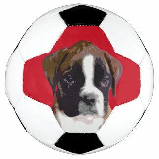 ボクサーの子犬 サッカーボール