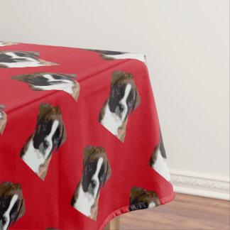 ボクサーの子犬 テーブルクロス