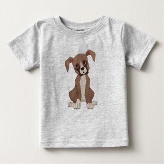 ボクサーの子犬 ベビーTシャツ