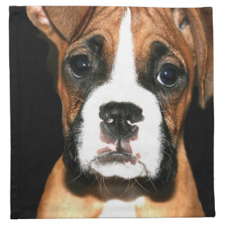 ボクサーの小犬 ナプキンクロス