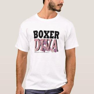 ボクサーの花型女性歌手- Marleyの写真01 Tシャツ