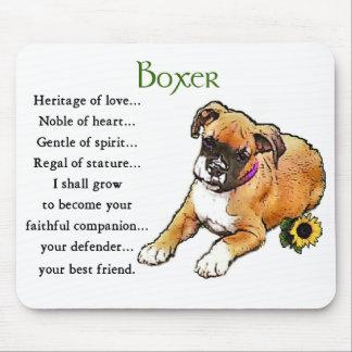 ボクサー犬のギフト マウスパッド