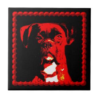 ボクサー犬のセラミックタイル タイル