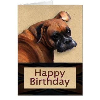 ボクサー犬のバースデー・カード グリーティングカード