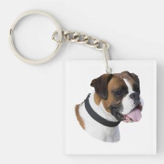 ボクサー犬のポートレートの写真 キーホルダー