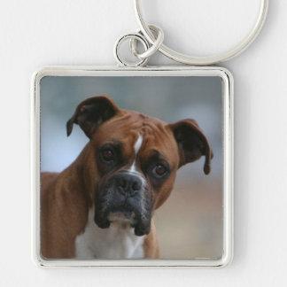ボクサー犬のポートレートの報酬Keychain キーホルダー