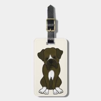 ボクサー犬の子犬 ラゲッジタグ