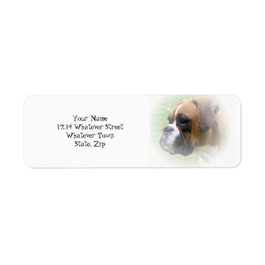 ボクサー犬の差出人住所ラベル 返信用宛名ラベル