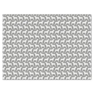 ボクサー犬はパターン灰色のシルエットを描きます 薄葉紙