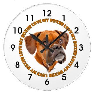 ボクサー犬愛私のボクサー ラージ壁時計
