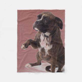 ボクサー犬毛布 フリースブランケット