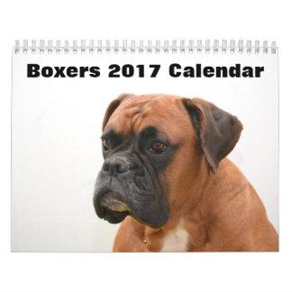 ボクサー犬2017年 カレンダー