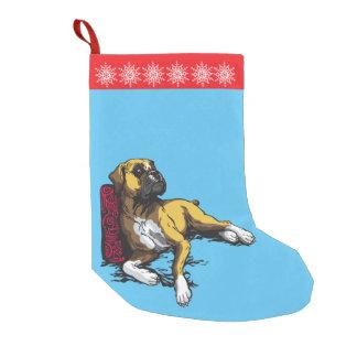 ボクサー犬 スモールクリスマスストッキング