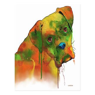 ボクサー犬 ポストカード
