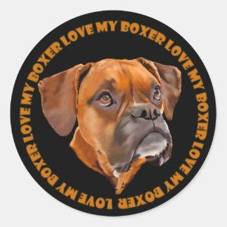 ボクサー犬 ラウンドシール