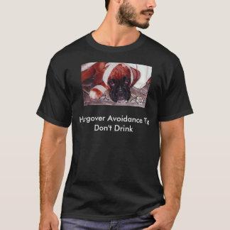 ボクサー犬-残存物の回避の先端-は飲みません Tシャツ