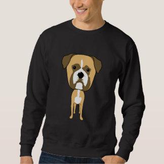 ボクサー犬。 特大頭部 スウェットシャツ