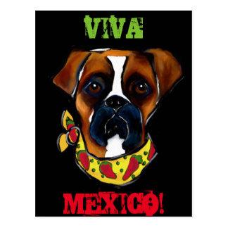 ボクサー犬Cinco deメーヨー ポストカード