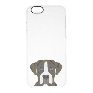 ボクサーbrindle犬のiphoneのcaes クリアiPhone 6/6Sケース