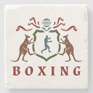ボクシングのカンガルーの紋章の大理石のコースター ストーンコースター