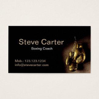 ボクシングのコーチの手袋の入賞したリングのトレーディングカード 名刺