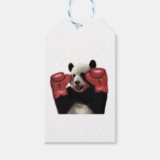 ボクシングのパンダ ギフトタグ