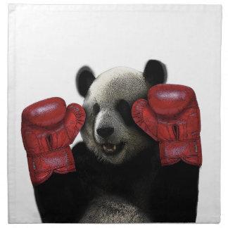 ボクシングのパンダ ナプキンクロス